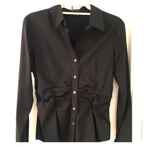 Theory Black Button Down